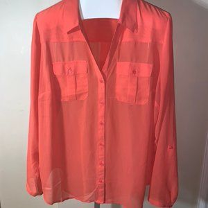 Maurices Sheer Button Down Top